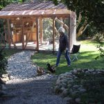 Big beautiful aviary built for adopted and foster pigeons