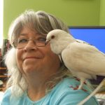 Adopter & volunteer with her pet pigeon