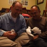 Adopters and their pet pigeons
