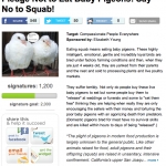 Pledge not to eat baby pigeons. Say No to Squab!