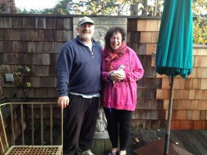 Gary & Laurie in the spot that will become Polka Dot's aviary