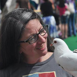 Elizabeth and Pigeon