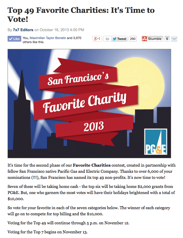 MickaCoo is honored to be chosen one of San Francisco's Top 49 Charities of 2013