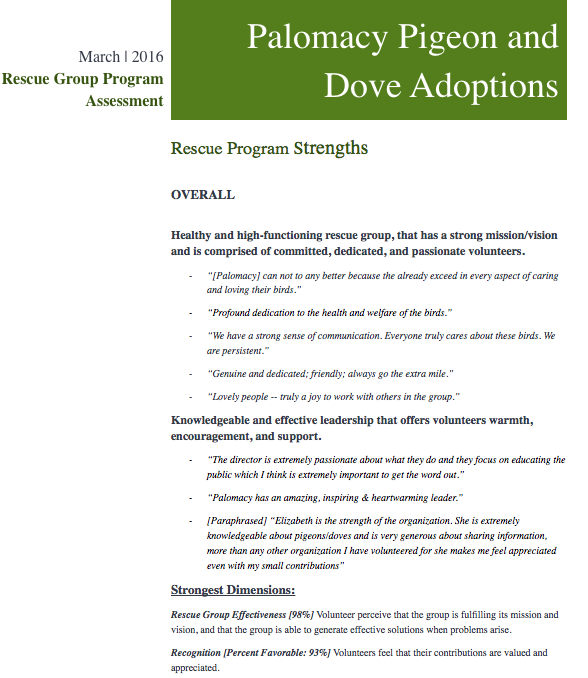 Page 1 of Rescue Group Program Assessment