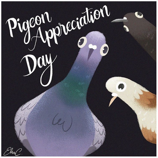 Pigeon Appreciation Day by Elsa Chang